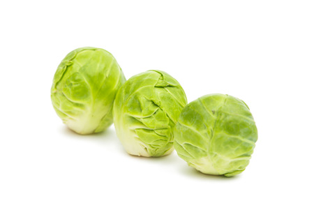 sprout: Brussels sprouts isolated on white background Stock Photo