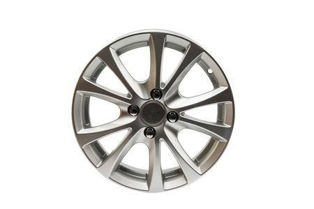 vulcanization: car wheels isolated on a white background Stock Photo