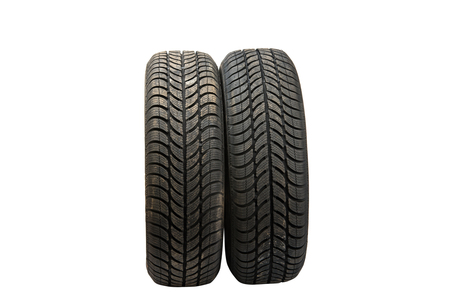 winter tires car isolated on a white background