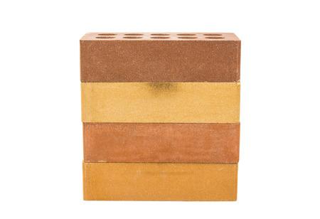 porous brick: bricks isolated on white background