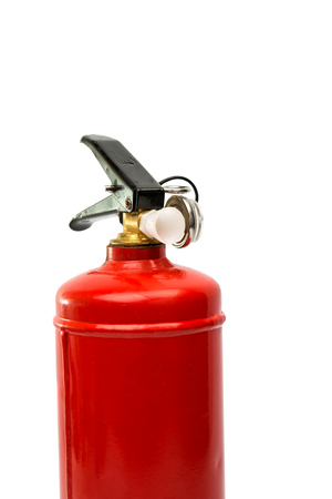 pressure loss: fire extinguisher on a white background