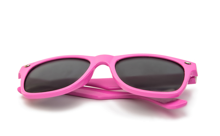 sunglasses isolated: Womens pink sunglasses isolated on white background