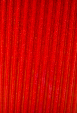 redness: rippled texture of red paper