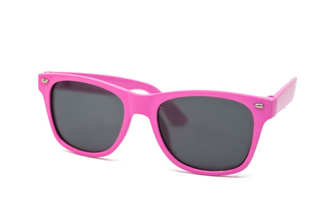 Womens pink sunglasses isolated on white background