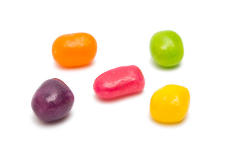jellybean: fruit jelly beans isolated on a white background