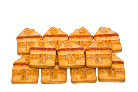 single dwelling: Cookie house, isolated on a white background