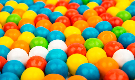 many colored: many colored fruit gummy candies close-up Stock Photo