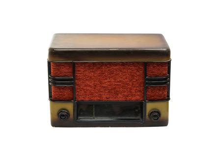 shortwave: retro radio isolated on white background Stock Photo