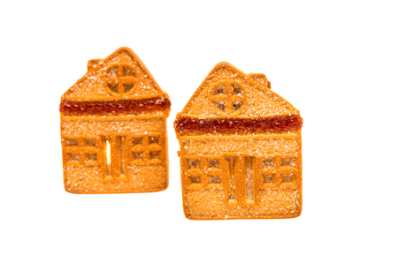 single dwellings: Cookie house, isolated on a white background