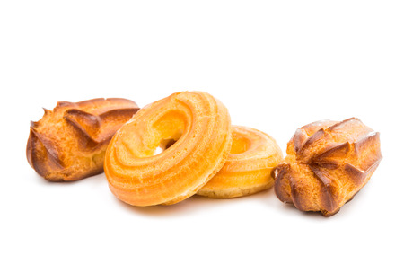 choux: choux pastry isolated on white background
