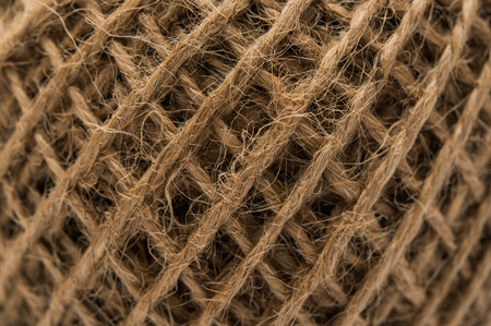 twine: Skein of jute twine closeup Stock Photo