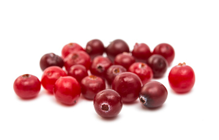 cranberries: cranberries on a white background