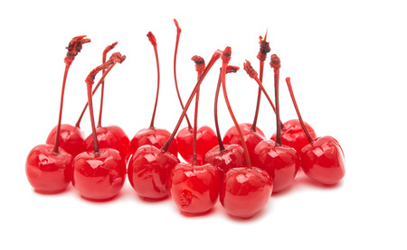 maraschino: maraschino cherry isolated on a white background