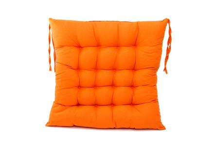 soft furnishing: chair cushion isolated on white background Stock Photo