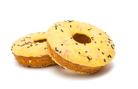 glaze: donuts in glaze isolated on white background