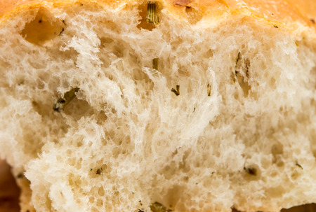 dekorated: texture of white bread close up