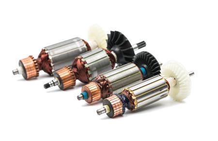 rotor: Electric motor rotor isolated white background Stock Photo