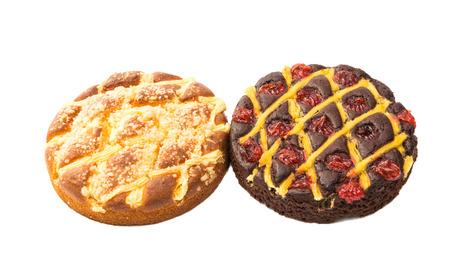 jam tarts: delicious cake isolated on white background Stock Photo