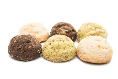 crumbly: crumbly biscuits on a white background