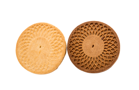 biscuts: cookies isolated on white background