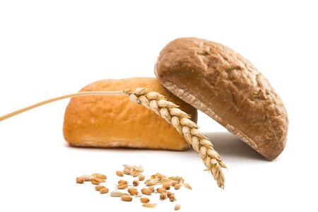 ciabatta: Ciabatta, Italian bread isolated on white background