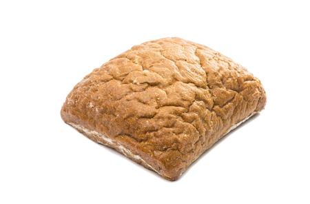 Ciabatta, Italian bread isolated on white background