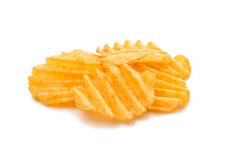 nosh: potato chips on a white background