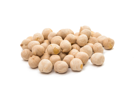 garbanzo bean: White chickpeas isolated on white background