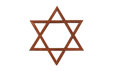 jewish star: Jewish star on a white background