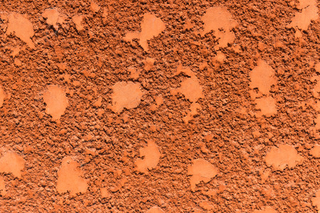 stucco: red striated stucco wall texture Stock Photo