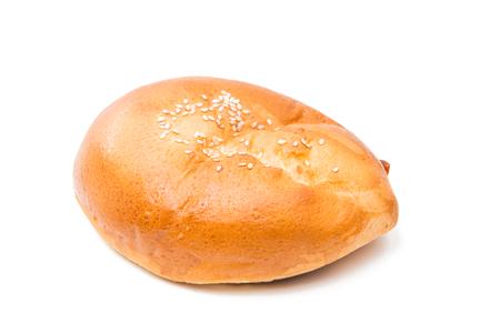 pasty: Homemade pasty isolated on white background Stock Photo