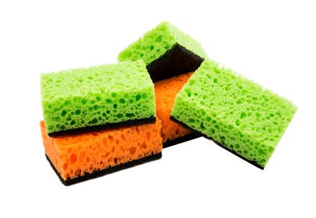 hygienic: kitchen sponges on a white background Stock Photo