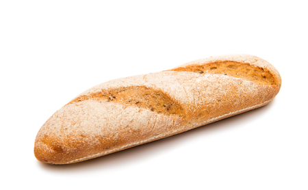 baguet: baguette isolated on white background Stock Photo