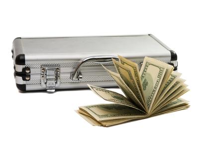 one hundred dollars: Dollars isolated on white background Stock Photo