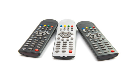 remotes: TV remotes isolated on white background