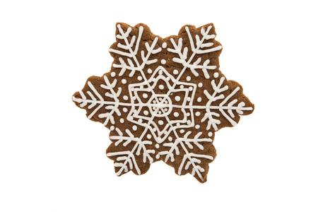 snowflake cookie on a white background Reklamní fotografie