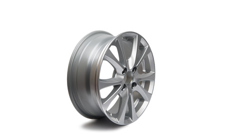spokes: car wheels on a white background