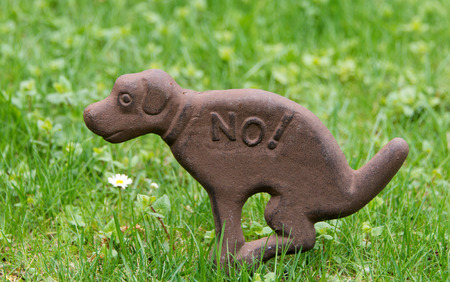 pooping: sign dogs not to shit on lawns