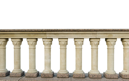 handrail: stone railings, isolated on a white background