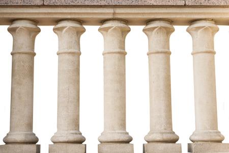 steen relingen, geïsoleerd op een witte achtergrond Stockfoto