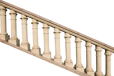 balustrade: stone railings, isolated on a white background