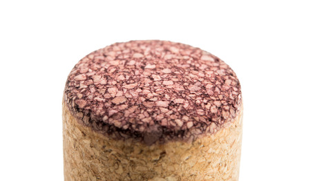 Wine cork, isolated on a white background Imagens