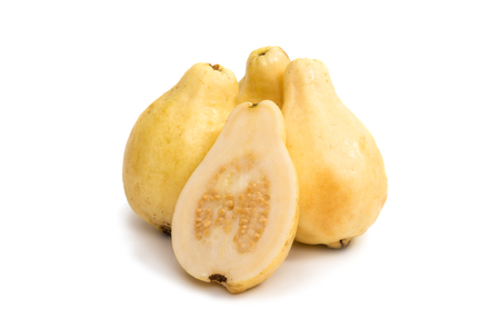 cutouts: yellow guava fruit isolated on white background