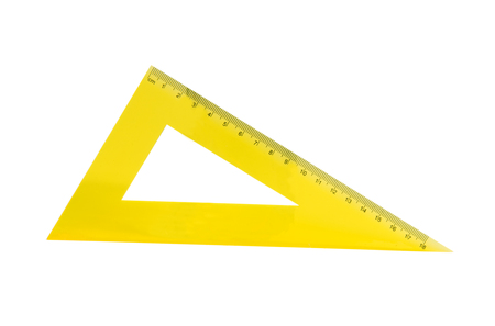 yellow ruler on a white background