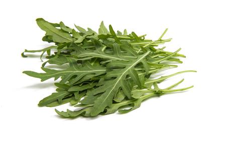 fresh rucola leaves isolated on white Stock Photo