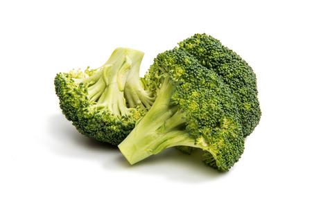 savoy cabbage: Broccoli on a white background