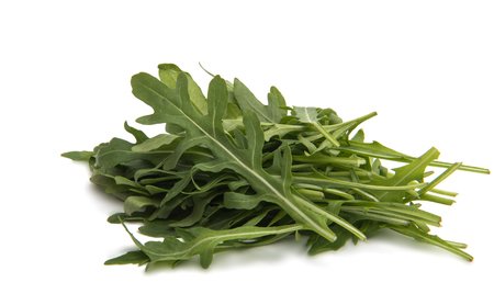 fresh rucola leaves isolated on white Stock Photo