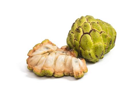 annonaceae: Fresh Custard Apple isolated on white background