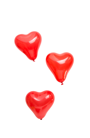 balloons heart on a white background