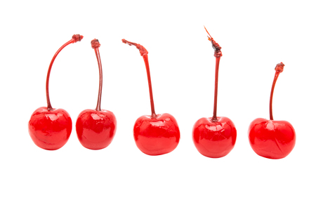 chantilly: maraschino cherry isolated on a white background